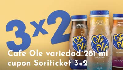 Cafe Ole 3x2 descuento 15-12-2017