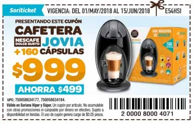 cupon soriana cafetera dolce gusto