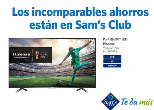 oferta smart tv hisense Sams club